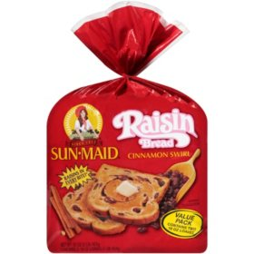 Sun-Maid Cinnamon Swirl Raisin Bread (16oz / 2pk)
