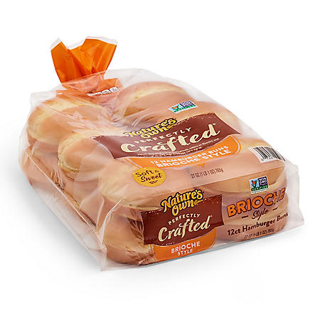 Nature's Own Perfectly Crafted Brioche Style Hamburger Buns (27oz)