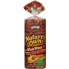 Nature's Own 100% Whole Wheat with Honey Bread (16 oz., 2 pk.)
