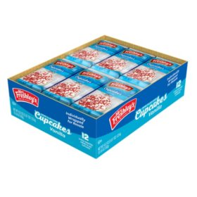 Mrs. Freshley's Creme Filled Vanilla Cupcakes (3.6oz / 12pk)