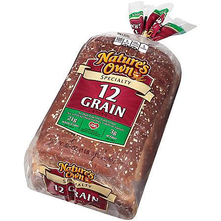 Nature's Own 12 Grain Oval Bread (48 oz., 2 pk.)