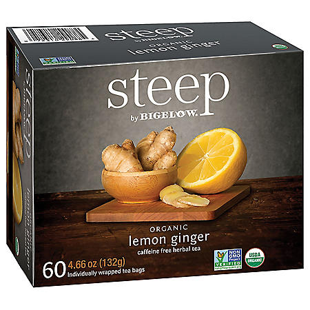 steep by Bigelow Lemon Ginger Herbal Tea ( 60 ct.)