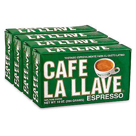 Cafe La Llave Ground Espresso (10 oz. bricks, 4 ct.)