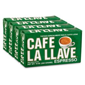 Cafe La Llave Ground Espresso (10 oz., 4 ct.)