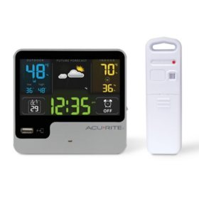 AcuRite Alarm Clock with Weather Forecast