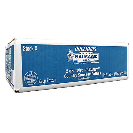 Williams Biscuit Buster Breakfast Sausage (6 lbs.)