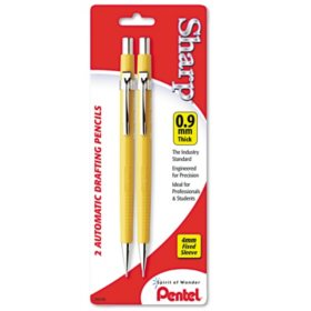 Pentel - Sharp Automatic Pencil, 0.9 mm, Yellow Barrel -  2/Pack