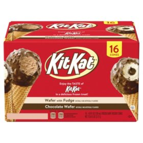 Kit Kat Drumstick Ice Cream Cones Variety Pack, Frozen (16 ct.)