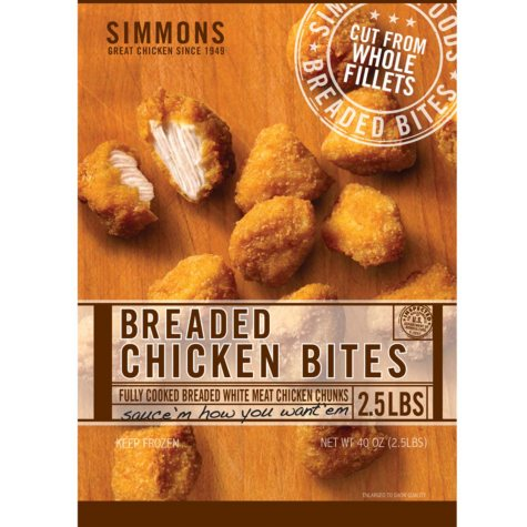 Simmons Breaded Chicken Bites - 2.5 lbs.