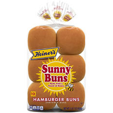Heiner's Seeded Hamburger Buns  (12 ct.)