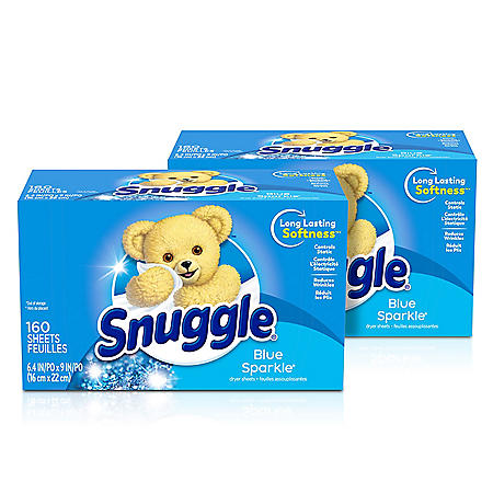 Snuggle Fabric Softener Dryer Sheets, Blue Sparkle (320 ct.)