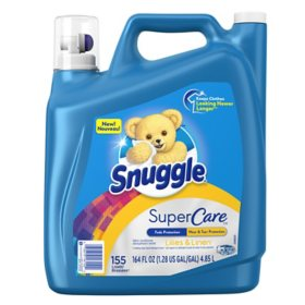 Snuggle SuperCare Liquid Fabric Softener, Lilies and Linen (164 oz, 155 Loads)