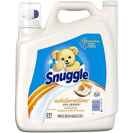 Snuggle Exhilarations Liquid Fabric Softener, Spa Series Coconut Milk and Honey (180 fl. oz., 211 loads)