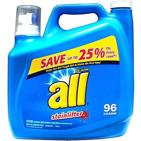 all Stainlifter Original Liquid Detergent -  150 oz. - 100 loads