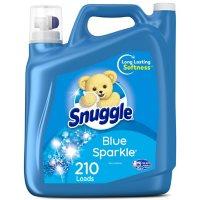 Snuggle Liquid Fabric Softener, Blue Sparkle (168 fl. oz., 210 loads)