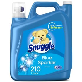Snuggle Liquid Fabric Softener, Blue Sparkle (168 fl. oz., 210 loads)
