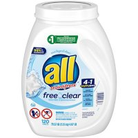 all Mighty Pacs Laundry Detergent, Free Clear for Sensitive Skin (120 ct.)