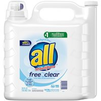 all Liquid Laundry Detergent Free Clear for Sensitive Skin (250 oz.,166 loads)