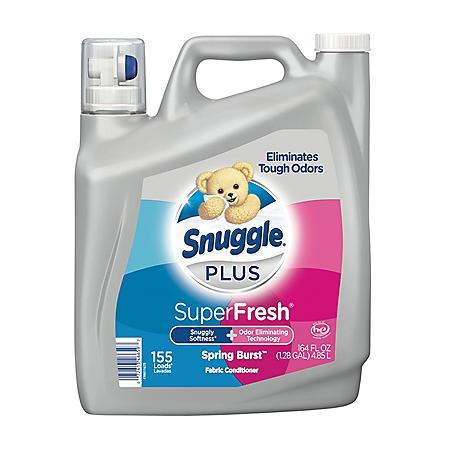 Snuggle Plus Fabric Conditioner, Spring Burst Scent (155 Loads, 164oz.)