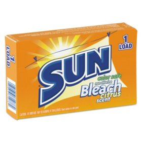 SUN Color Safe Powder Bleach, Vend Pack, 1-Load Box (100 ct.)