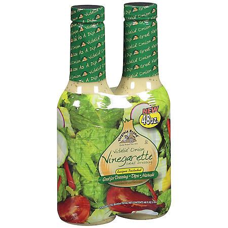 Virginia Brand Vidalia Onion Vinegarette Salad Dressing (24 oz. bottle, 2 ct.)