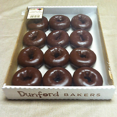 Dunford Bakers Chocolate Donuts (48oz)