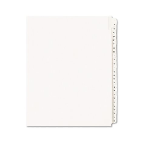 Avery Side Tab Legal Index Dividers A-Z