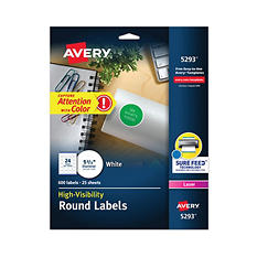 Avery Laser-Burst Round Labels
