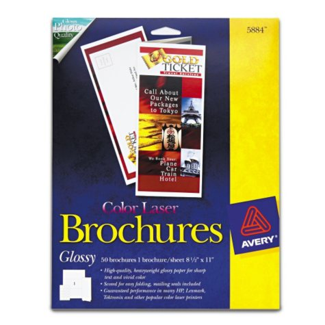 Avery Color Laser Glossy Brochures