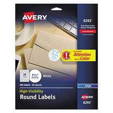 Avery Inkjet Color Printing Round Labels