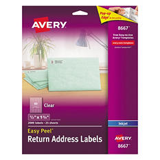 Avery® Inkjet Clear Address Labels - 2,000 ct.