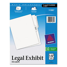 Avery Avery-Style Legal Side Tab Divider, Title: 1-10, Letter, White, 1 Set