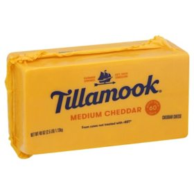 Tillamook Medium Cheddar Cheese (2.5 lbs.)