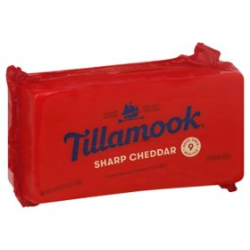 Tillamook Sharp Cheddar Cheese (2.5 lbs.)