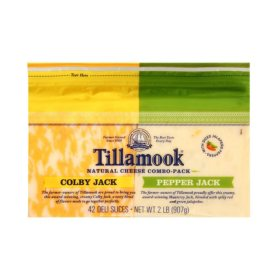 Tillamook Colby Jack/Pepper Jack Cheese Slices Variety Pack (32 oz.)