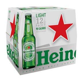 Heineken Light Lager Beer (12 fl. oz. bottle, 12 pk.)