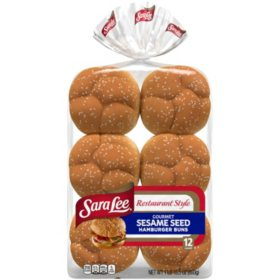 Sara Lee Restaurant Style Sesame Seed Hamburger Buns (12 ct.)
