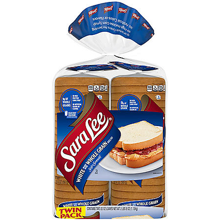 Sara Lee Whole Grain White Bread (20 oz., 2 pk.)
