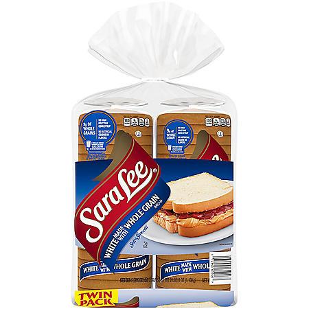 Sara Lee Whole Grain White Bread (20oz / 2pk)