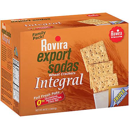 Rovira Export Sodas Wheat Crackers, 48oz
