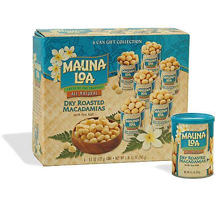Mauna Loa Dry Roasted Macadamias (4.5 oz., 6 pk.)