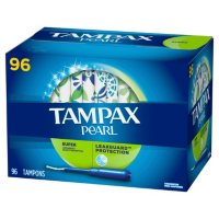 TAMPAX Pearl, Super, Plastic Tampons, Unscented (96 ct.)
