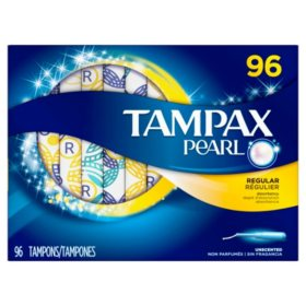 Tampax Pearl Unscented Tampons, Regular (96 ct.)