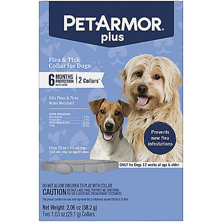 PetArmor Flea & Tick Collar for Dogs, 6 Months of Protection - 2 ct.