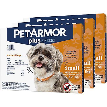 PetArmor Plus Flea & Tick Prevention with Fipronil, 9 ct. (Choose Your Size)