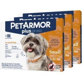PetArmor Plus Flea & Tick Prevention with Fipronil, 9 ct. (Choose Your Size)