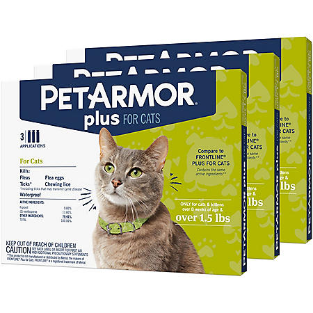 PetArmor Plus Flea & Tick Prevention for Cats Over 1.5 lbs. (9 ct.)