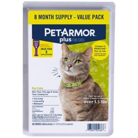 PetArmor Plus Flea & Tick Protection for Cats, 8 ct.