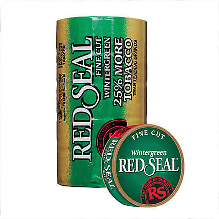 Red Seal Fine Cut Wintergreen (5-can roll)