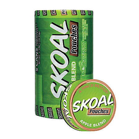 Skoal Pouches, Apple Blend (5-can roll)